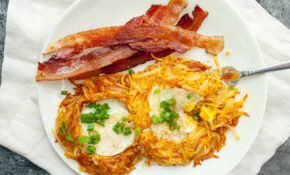 Hash Brown Egg Nests – Dinner Recipes Using Frozen Hash Browns