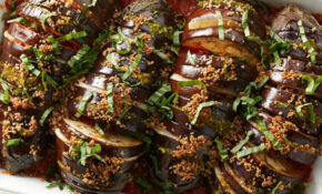 Hasselback Eggplant Parmesan Recipe – EatingWell – Quick Healthy Eggplant Recipes