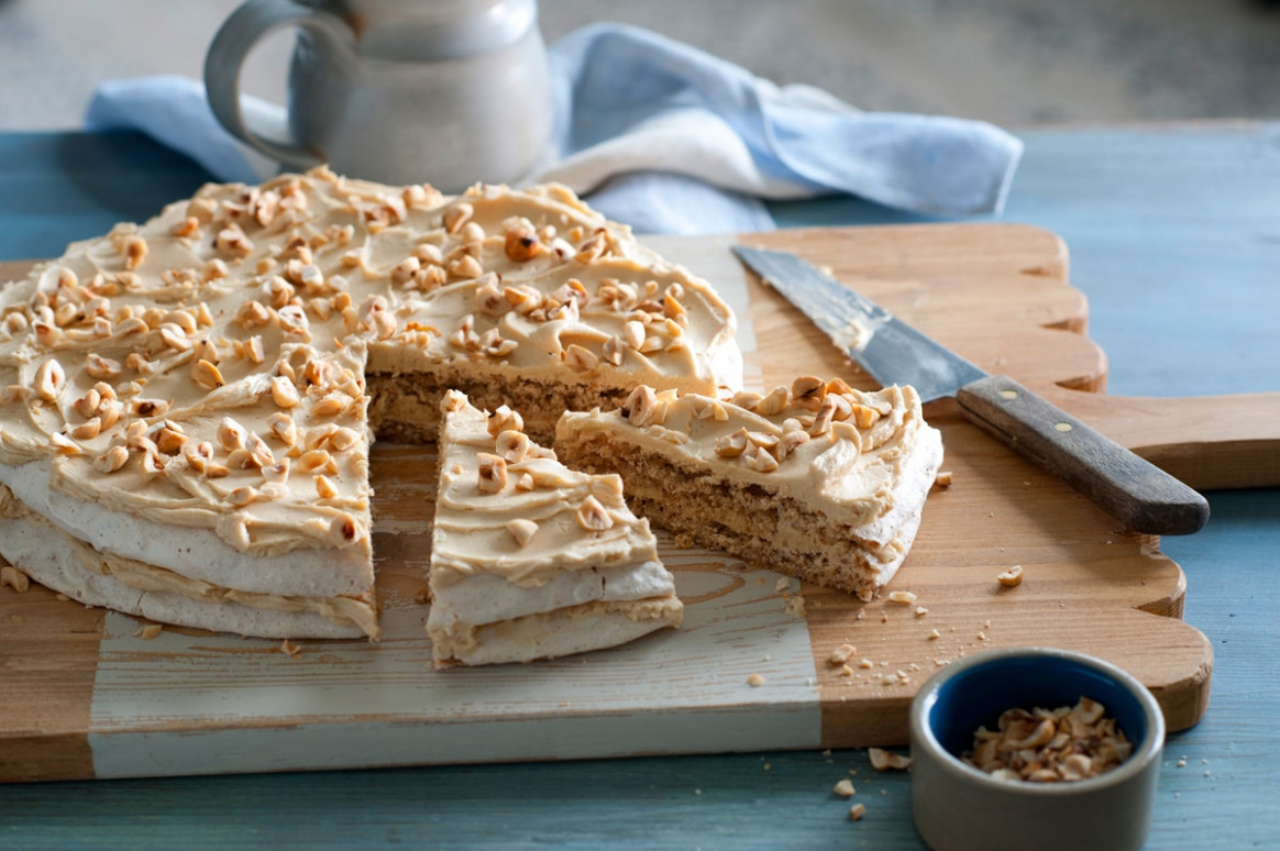 Hazelnut cake recipe : SBS Food