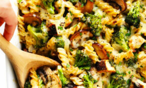 Healthier Broccoli Chicken Casserole Recipe   Gimme Some Oven – Healthy Recipes With Mushrooms