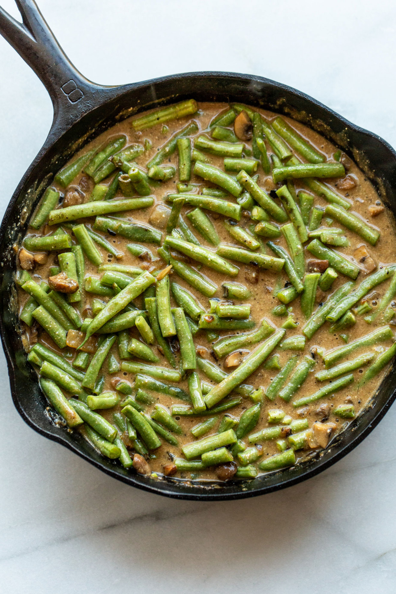 Healthier Green Bean Casserole - The Toasted Pine Nut - recipes green bean casserole healthy