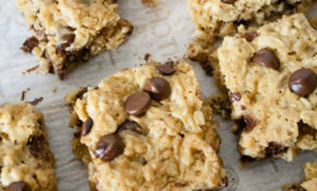 Healthier Oatmeal Peanut Butter Chocolate Chip Breakfast Bars – Healthy Recipes No Sugar