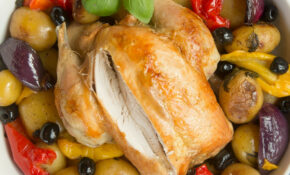 Healthier Roast Chicken With Mediterranean Veg – Healthy Chicken And Vegetable Recipes