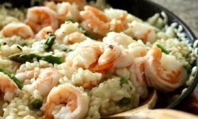 Healthier Spring Shrimp and Asparagus Risotto