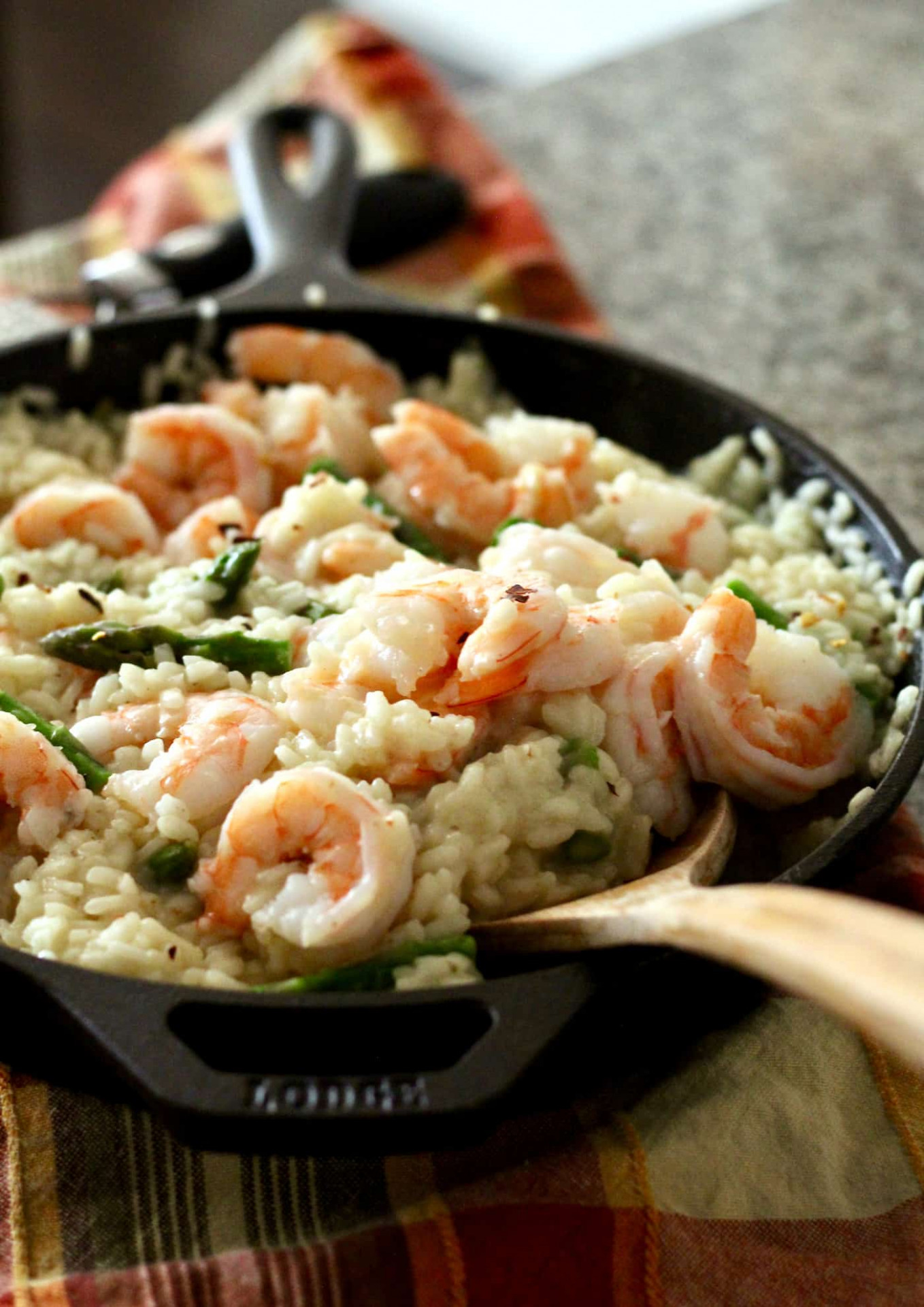 Healthier Spring Shrimp And Asparagus Risotto - Healthy Risotto Recipes