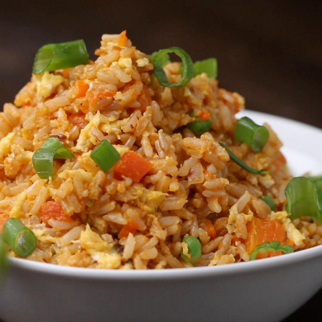 Healthier Veggie Fried Rice Recipe by Tasty - recipes brown rice healthy