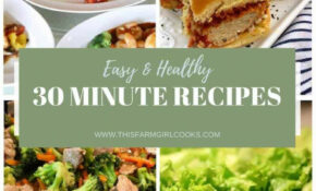 Healthy 13 Minute Meals: 13 Easy Dinner Recipes – Quick Healthy Food Recipes
