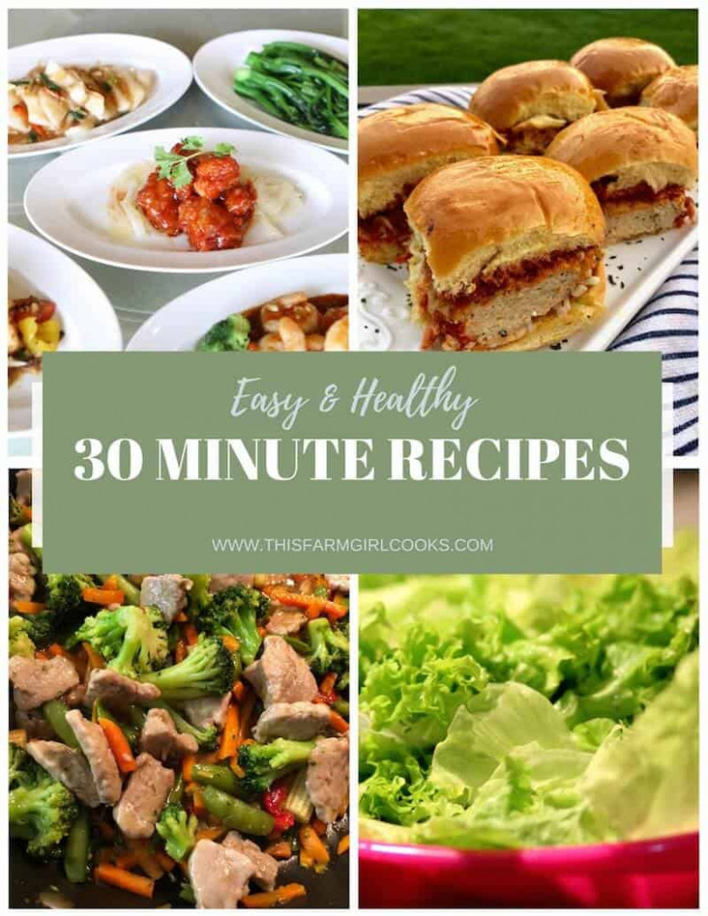 Healthy 13 Minute Meals: 13 Easy Dinner Recipes - Quick Healthy Food Recipes