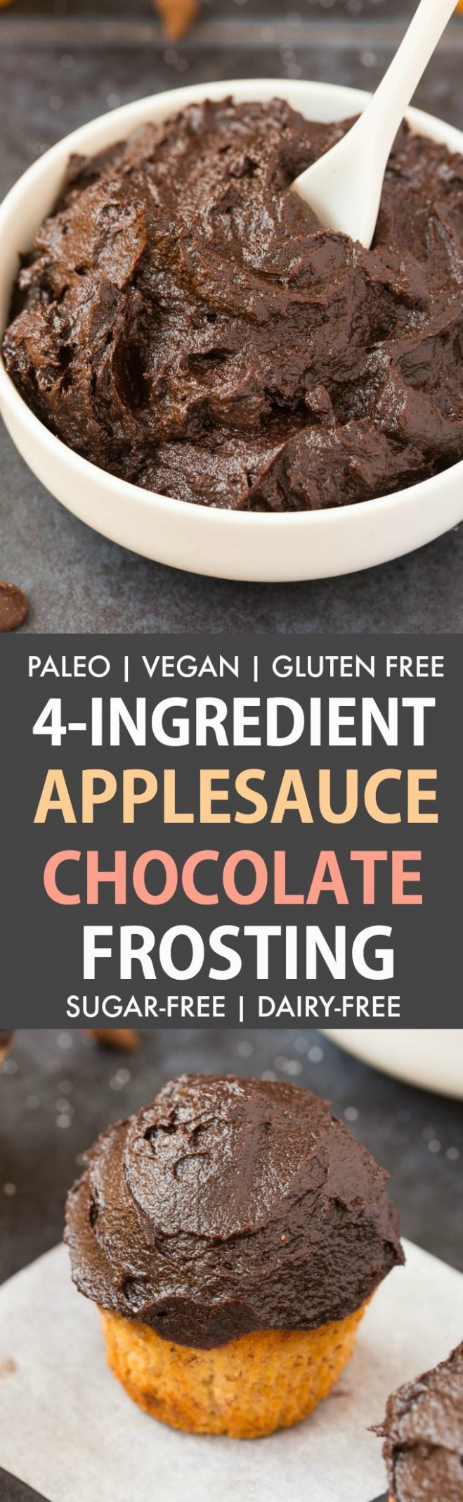Healthy 4 Ingredient Applesauce Chocolate Frosting (Paleo ..