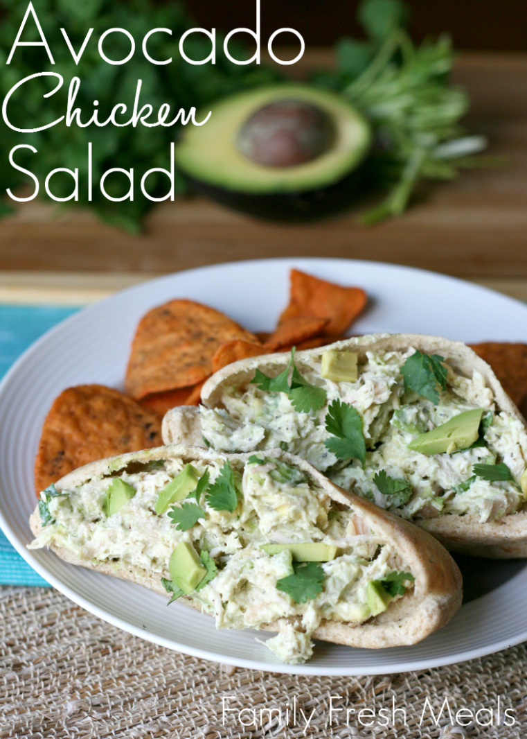 Healthy Avocado Chicken Salad - recipes dinner family