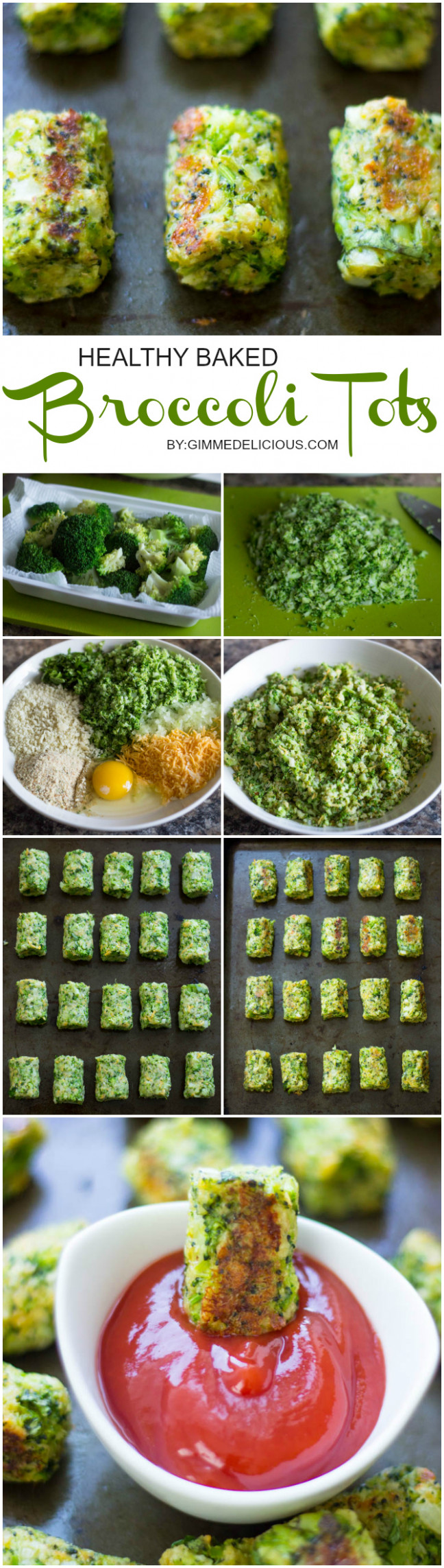 Healthy Baked Broccoli Tots - Healthy Recipes Low Calories