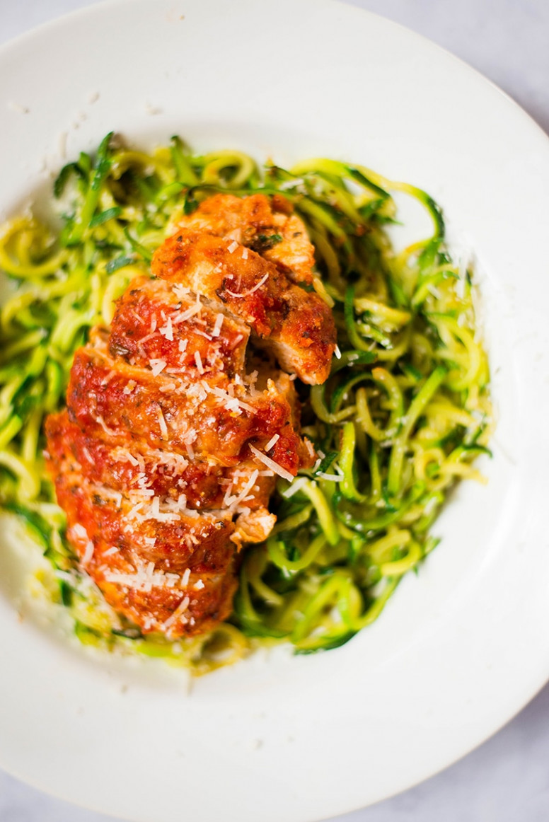 Healthy Baked Chicken Parmesan - baked chicken and zucchini recipes easy