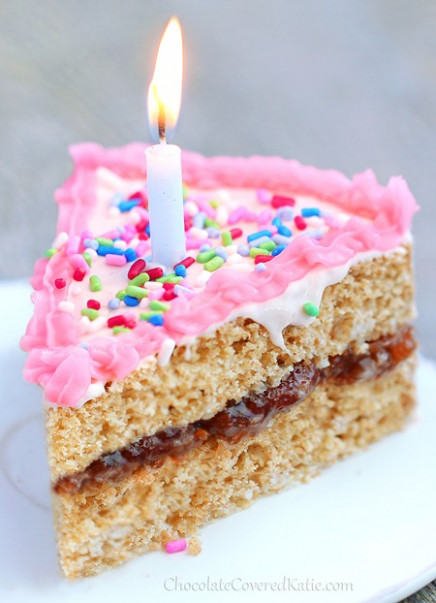 Healthy Birthday Cake! It holds its own against any boxed ..