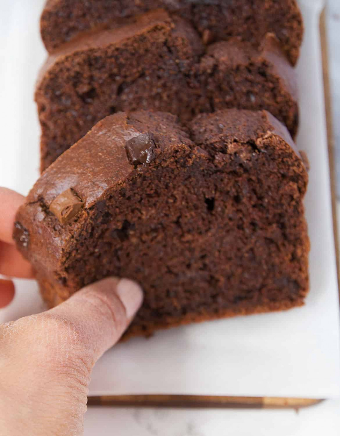 HEALTHY BLENDER CHOCOLATE ZUCCHINI BREAD - The Clever Meal - Healthy Recipes Zucchini Bread