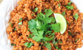 Healthy Brown Mexican Rice - The Saucy Fig