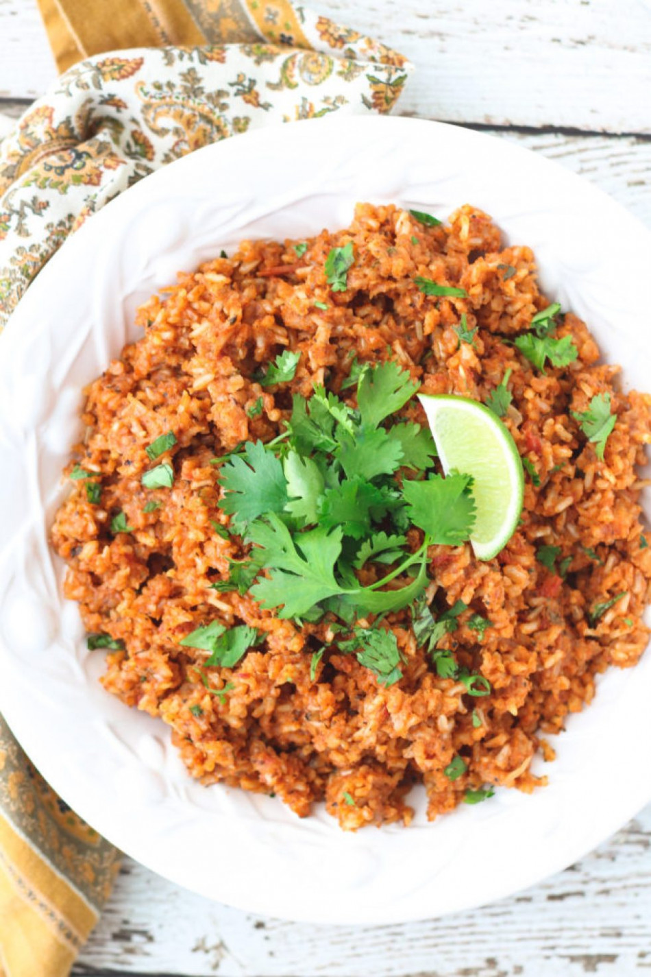 Healthy Brown Mexican Rice - The Saucy Fig - healthy recipes mexican