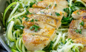 Healthy Chicken Alfredo Zoodles – Low Carb | Healthy Fitness ..