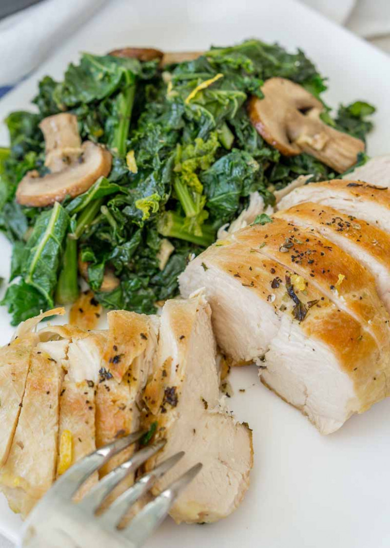 Healthy Chicken and Mushroom Skillet - healthy chicken and kale recipes