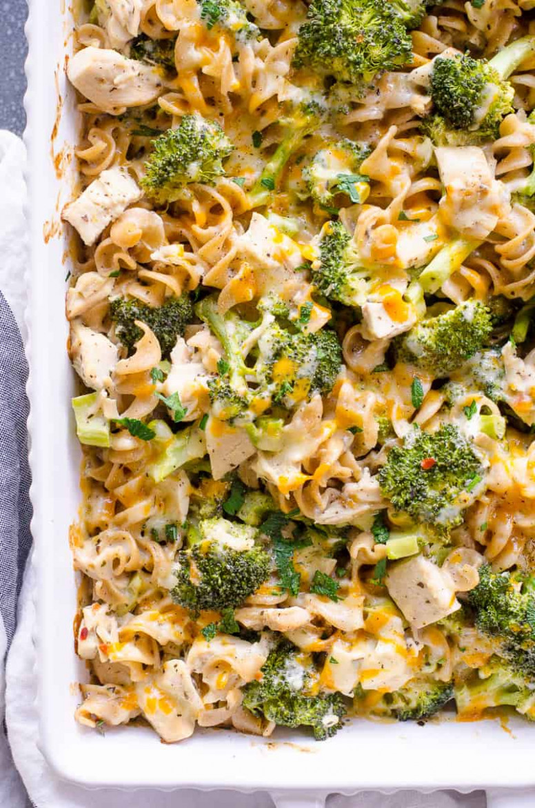 Healthy Chicken Broccoli Casserole - iFOODreal - Healthy ..