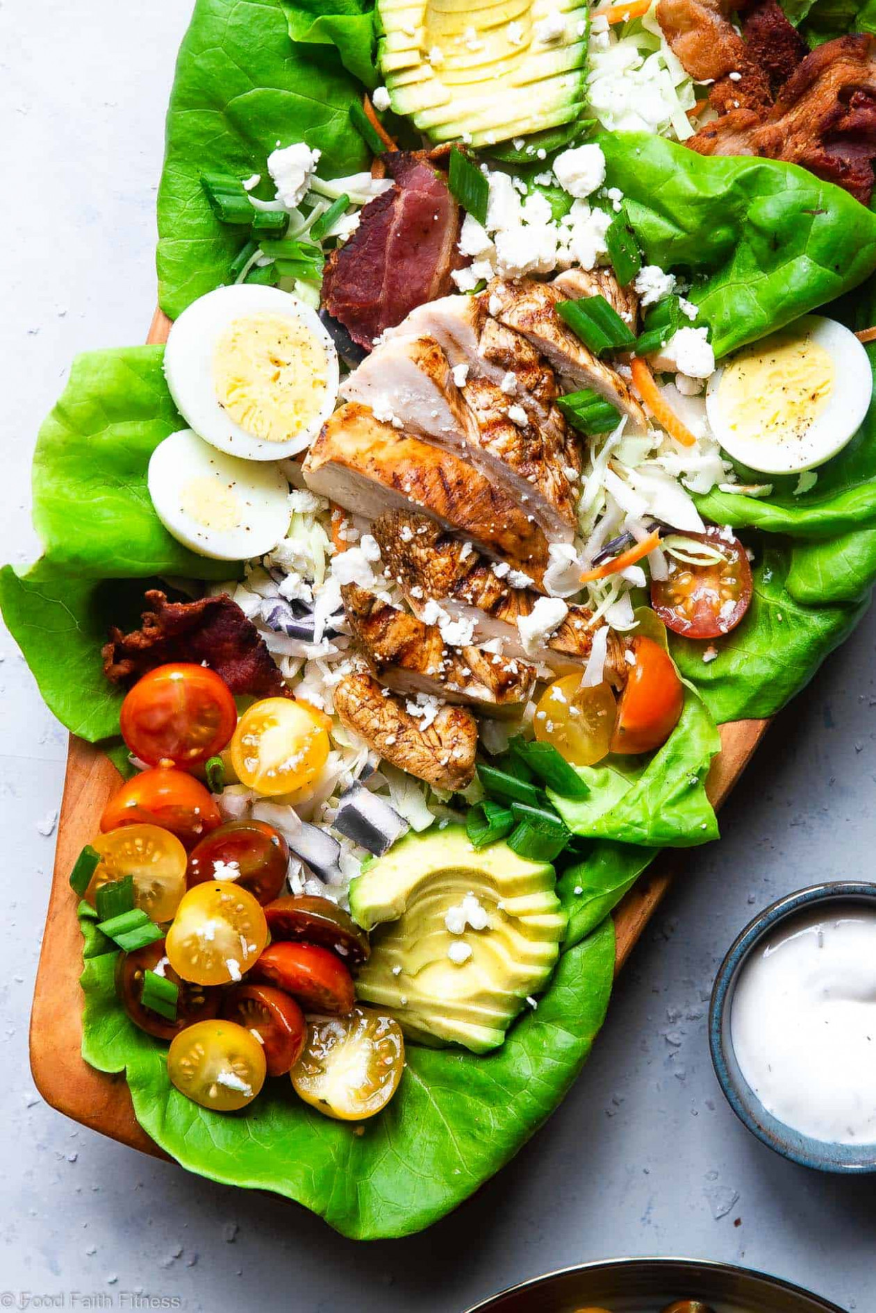 Healthy Chicken Cobb Salad Recipe | Food Faith Fitness - Healthy Recipes Salads