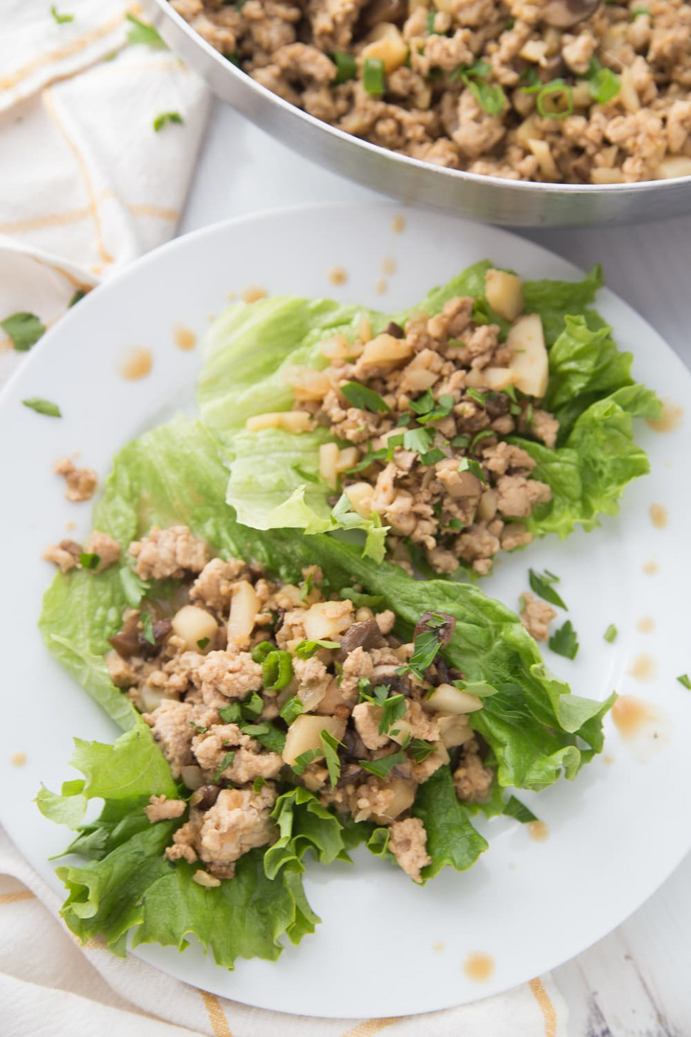 Healthy Chicken Lettuce Wraps | PF Changs Copy Cat Lettuce Wraps | 15 Day  Fix | 15B Mindset - healthy recipes ground chicken