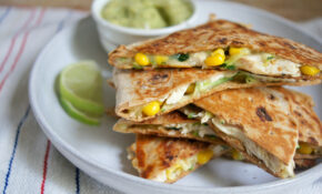 Healthy Chicken Quesadillas are Loaded with Vegetables with ...