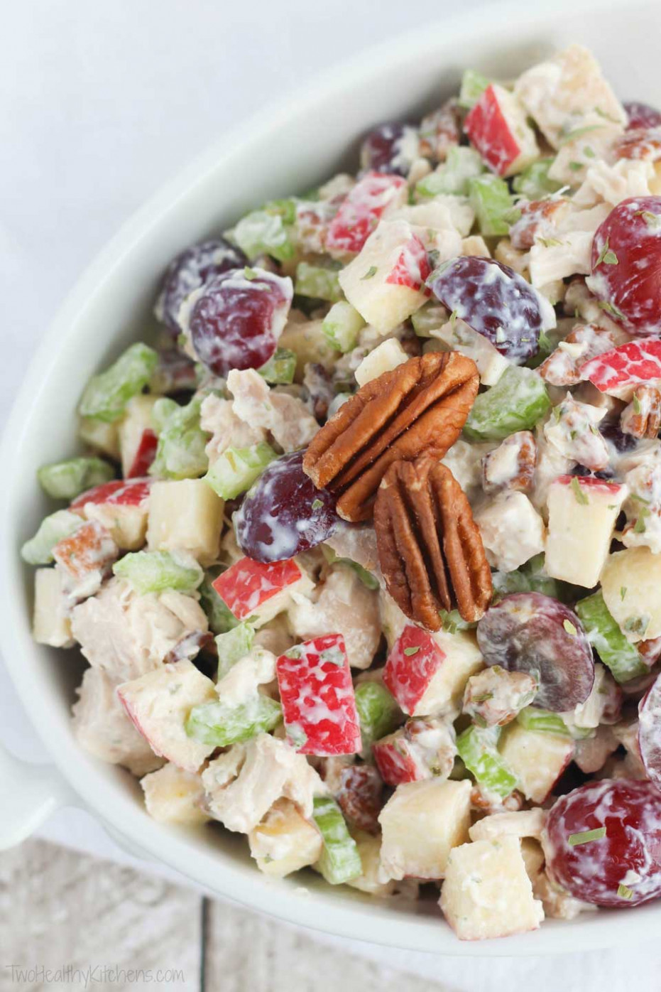 Healthy Chicken Salad With Grapes, Apples And Tarragon ..