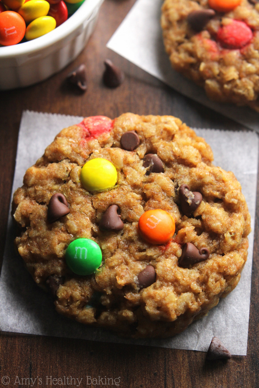 Healthy Classic Monster Cookies | Amy's Healthy Baking - Healthy Recipes Baking