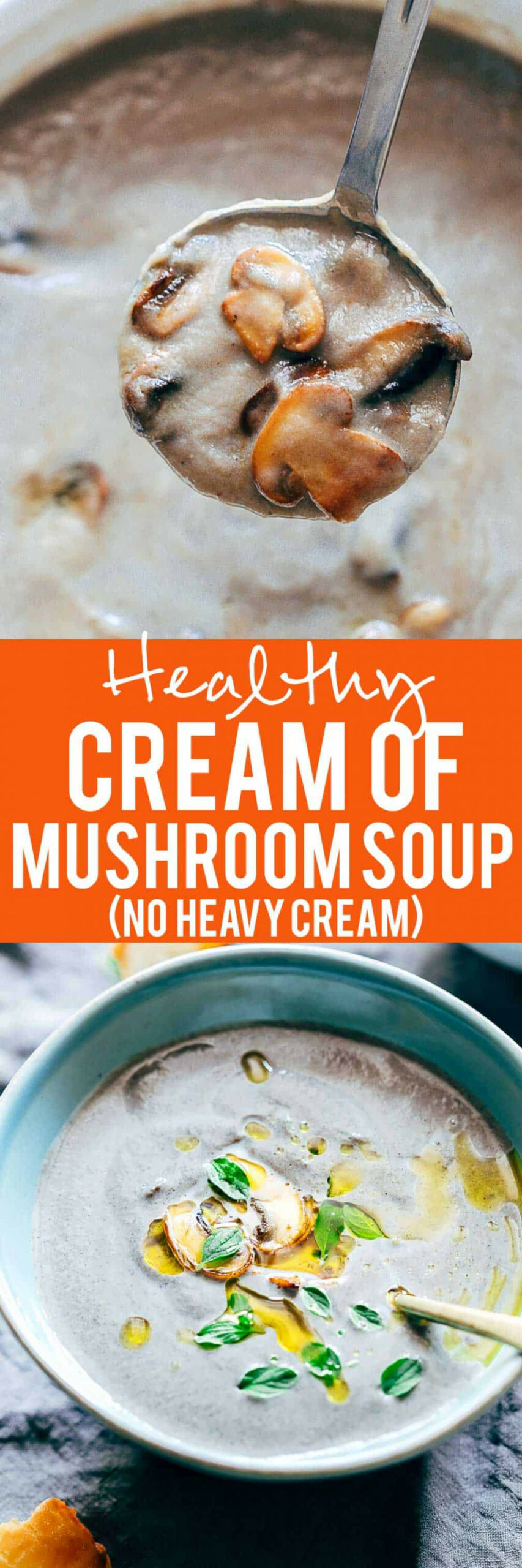 Healthy Cream of Mushroom Soup (Pressure Cooker Recipe) - healthy recipes in pressure cooker