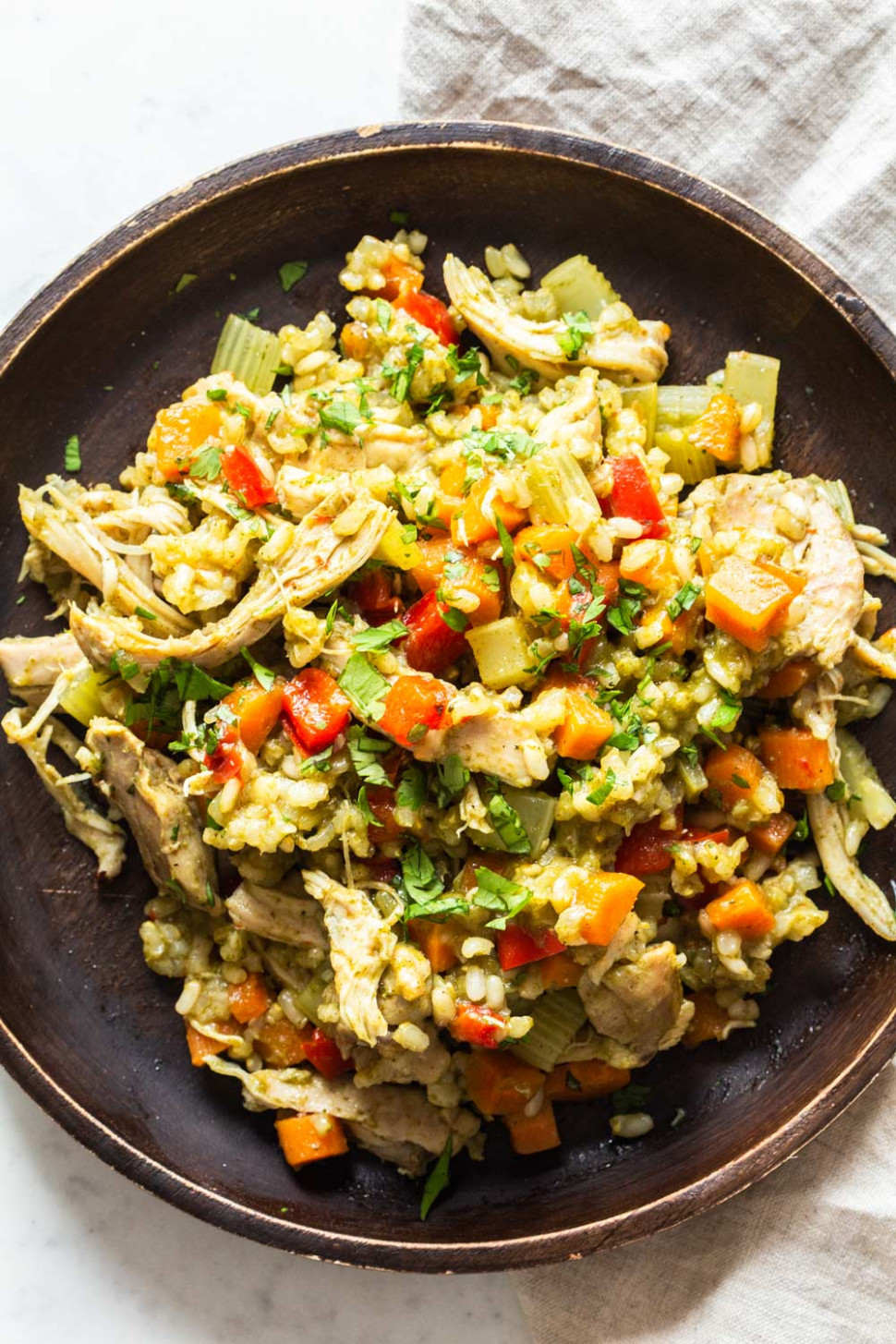 Healthy Crock Pot Chicken and Rice - Green Healthy Cooking - recipes in crock pot with chicken