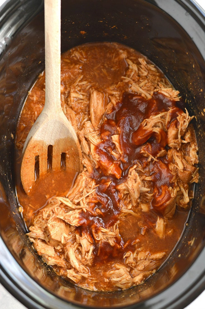 Healthy Crockpot BBQ Chicken - chicken recipes in crock pot