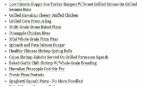 Healthy Dinner Menu…I Really Need To Start Studying This ..
