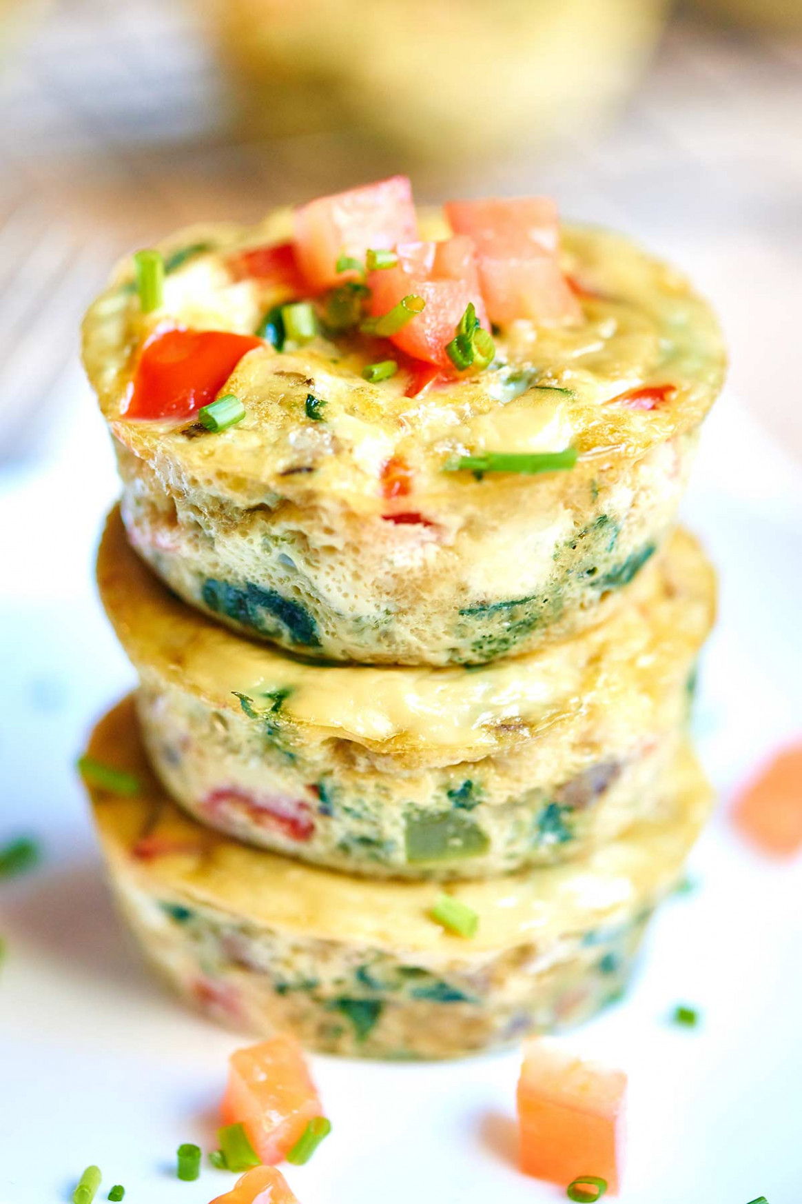 Healthy Egg Muffin Cups - breakfast recipes vegetarian