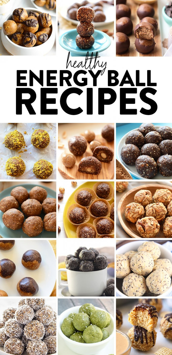 Healthy Energy Balls Recipes - Fit Foodie Finds - healthy recipes protein