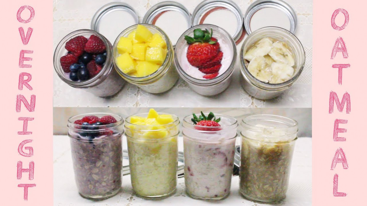 Healthy Grab-n-Go Snacks: No Cook Overnight Oatmeal ..