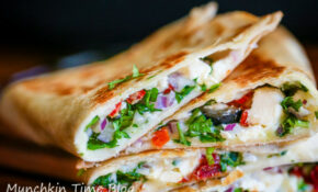 Healthy Greek Quesadilla Recipe - TGIF - This Grandma is Fun