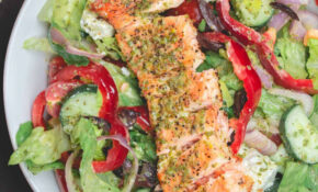 Healthy Greek Style Salmon Salad | The Mediterranean Dish – Healthy Recipes Salmon