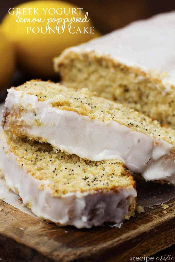 Healthy Greek Yogurt Lemon Poppyseed Pound Cake | The ...