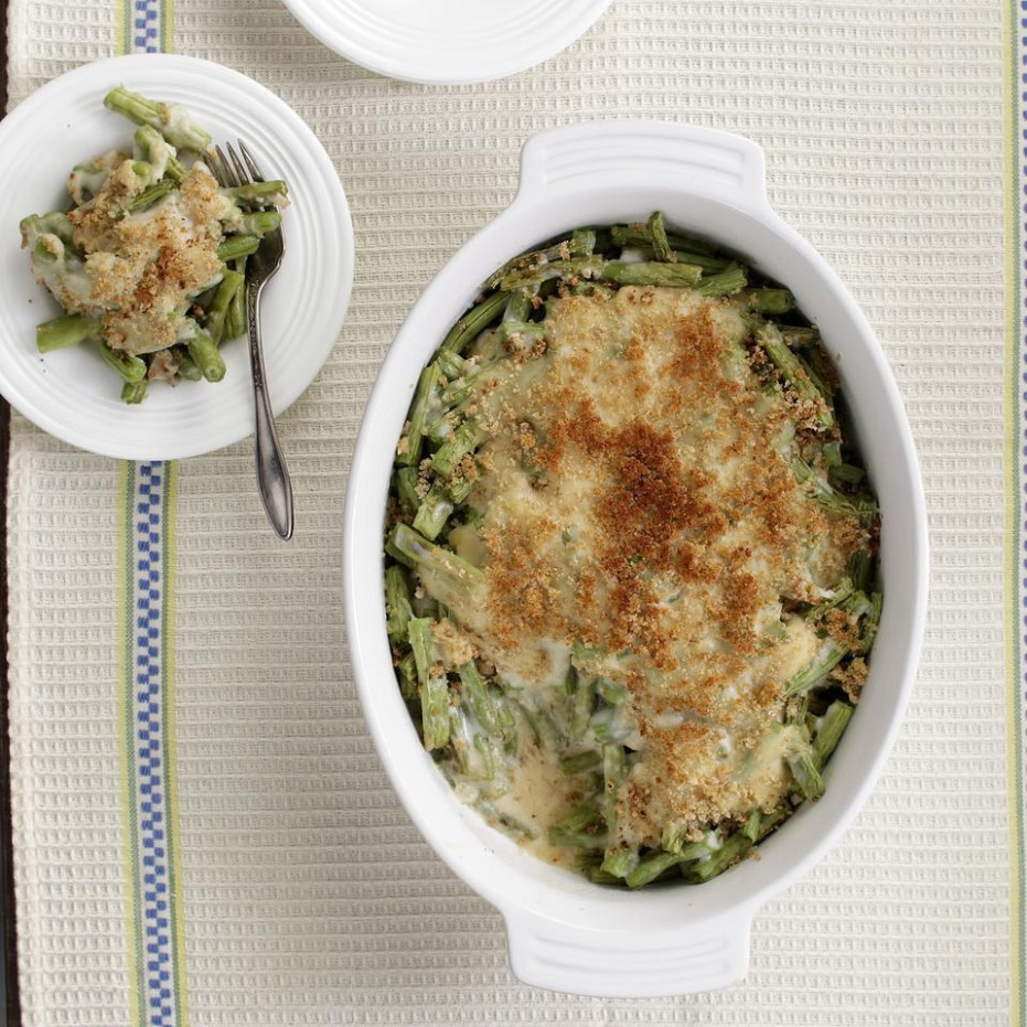 Healthy Green Bean Casserole Recipe - EatingWell - recipes green beans healthy