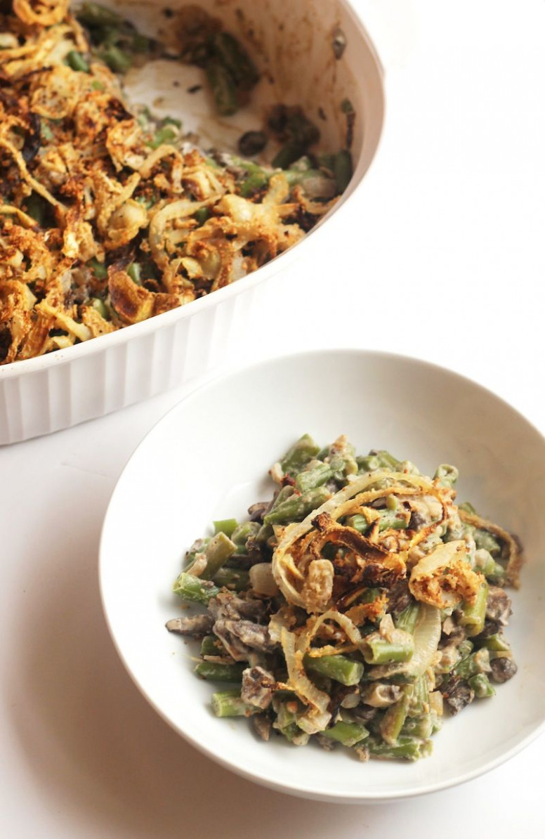 Healthy Green Bean Casserole (Vegan) - Recipes Green Bean Casserole Healthy