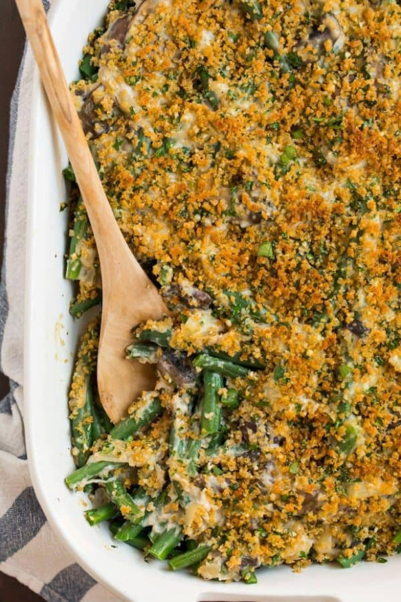 Healthy Green Bean Casserole | Well Plated by Erin - recipes green bean casserole healthy