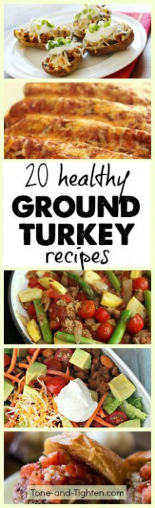 Healthy ground turkey, Ground turkey recipes and Ground ..