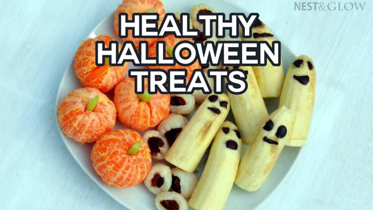 Healthy Halloween Treats - Lychee Eyeballs, Banana Ghosts ..