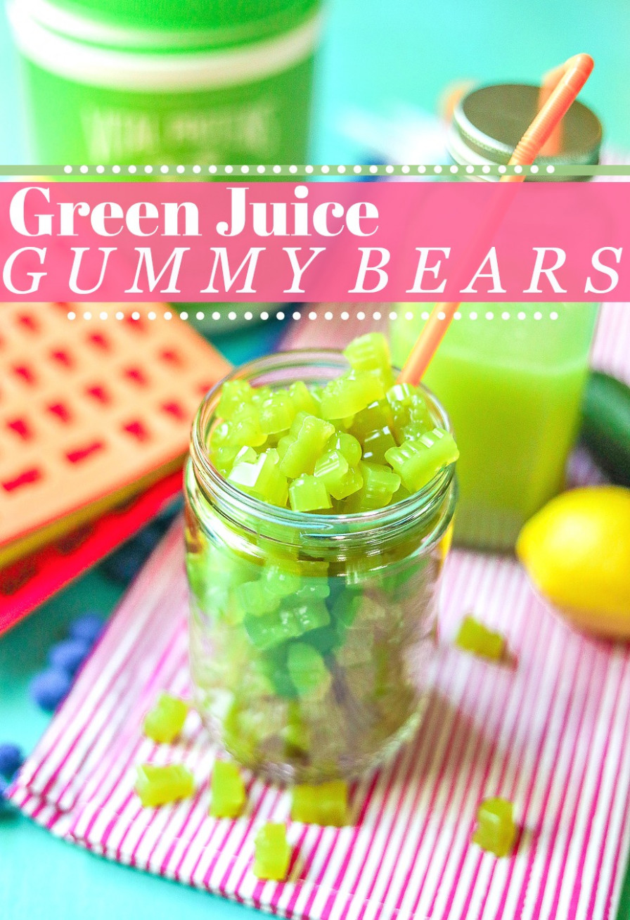 Healthy Homemade Green Juice Gummy Bears - healthy green juice recipes