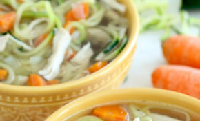 Healthy Instant Pot Chicken Zoodle Soup Recipe | Hungry Girl – Healthy Zoodle Recipes