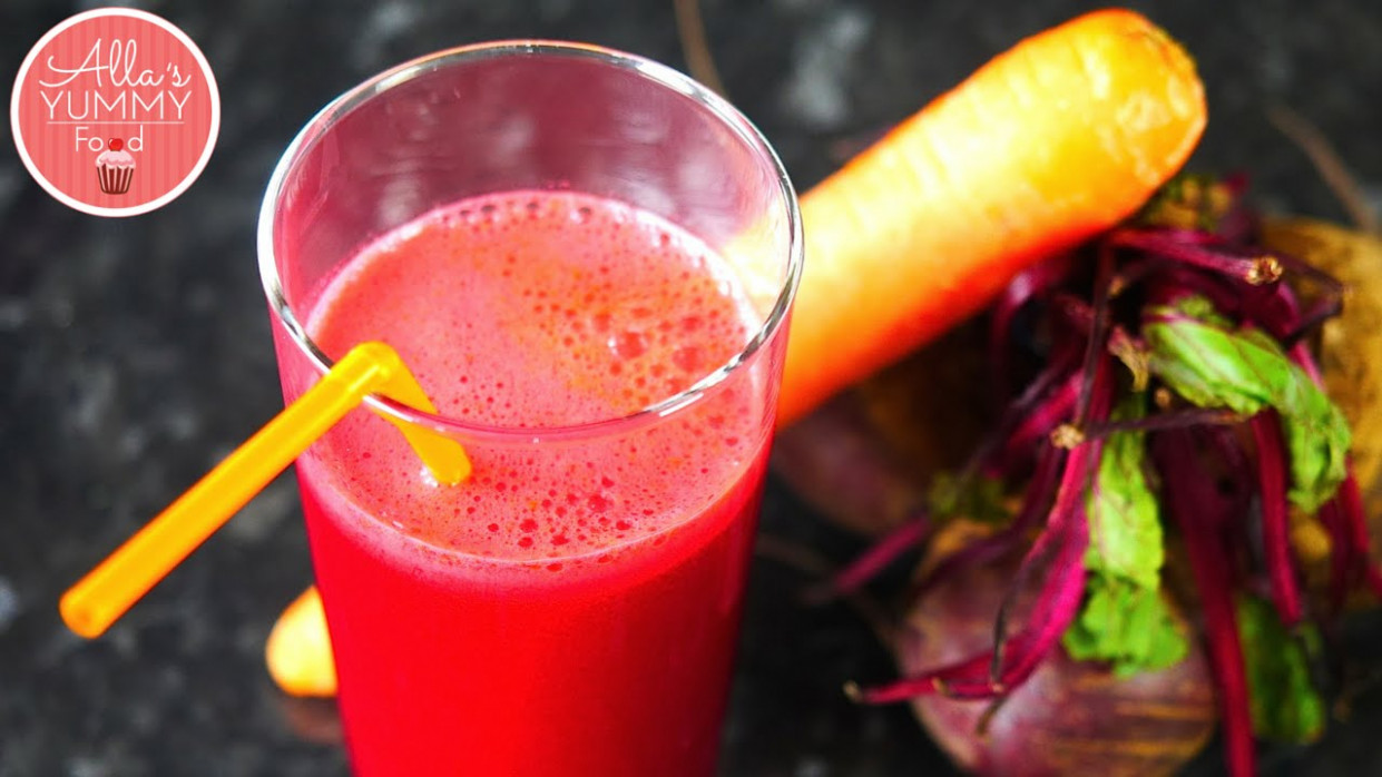 Healthy Juice Recipes: Beetroot & Carrot Juice - Свекольно-морковный сок - juicing recipes dinner