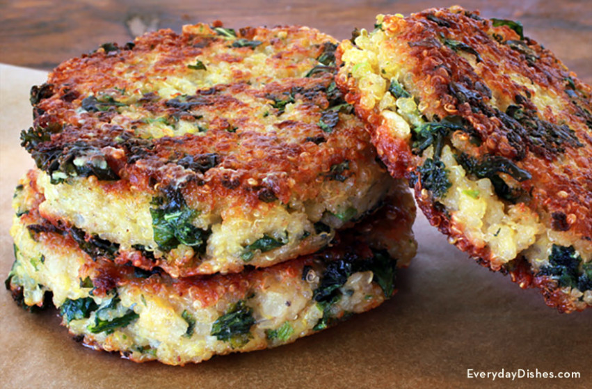 Healthy Kale And Quinoa Patties Recipe - Dinner Recipes Kale