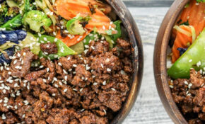 Healthy Korean Ground Beef With Vegetables – Ground Beef Recipes Dinner