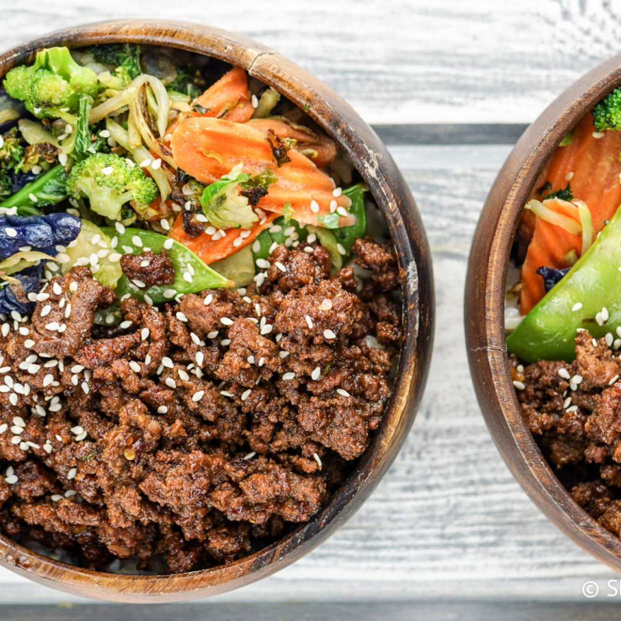 Healthy Korean Ground Beef with Vegetables - healthy recipes ground chicken