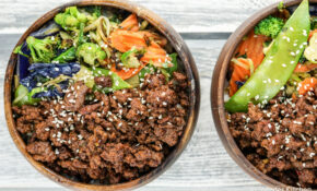 Healthy Korean Ground Beef with Vegetables - Slender Kitchen